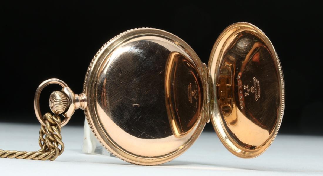 19th C. USA Elgin 10K Gold Pocket Watch w/ Fob - 8
