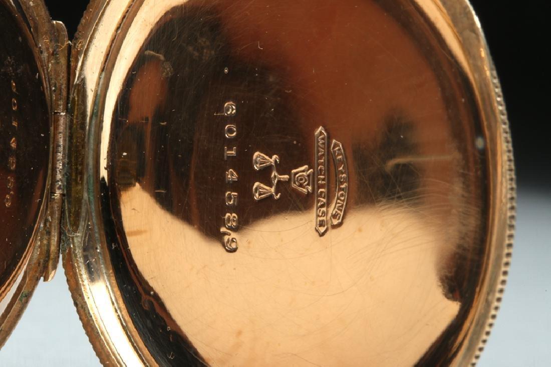 19th C. USA Elgin 10K Gold Pocket Watch w/ Fob - 9