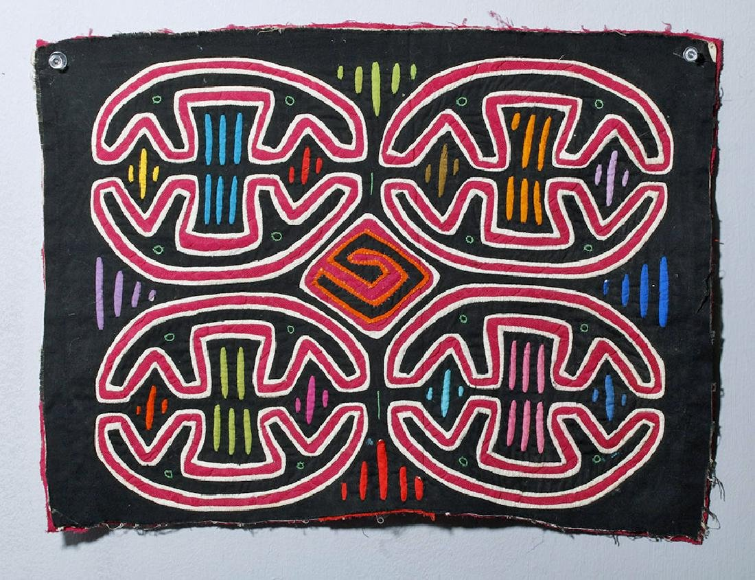 Colorful Panamanian Textile Mola, Abstraction, Symmetry