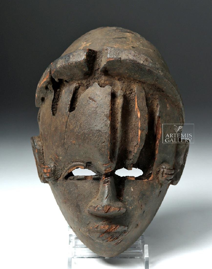 Early 20th C. Nigeria Ogoni Wood Face Mask