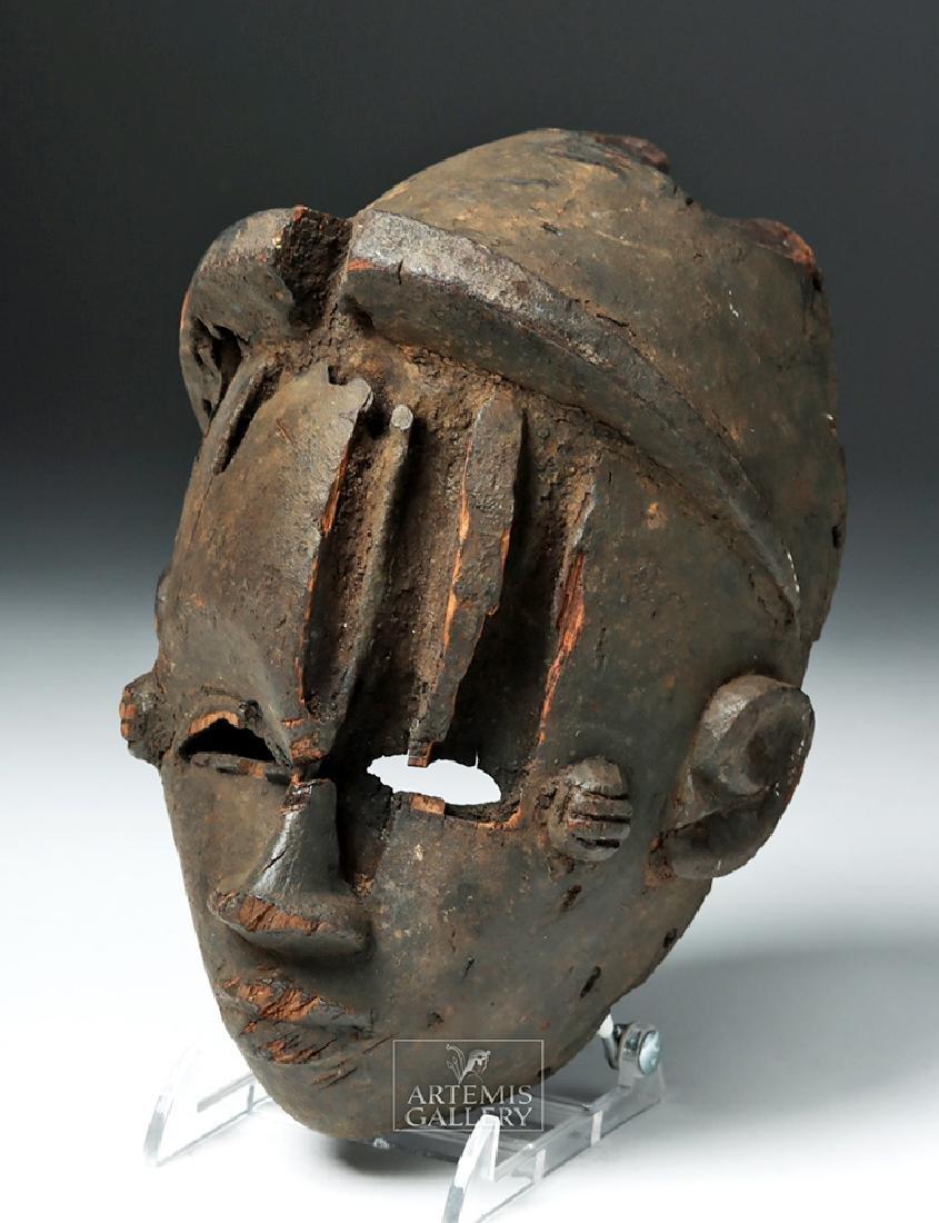 Early 20th C. Nigeria Ogoni Wood Face Mask - 2