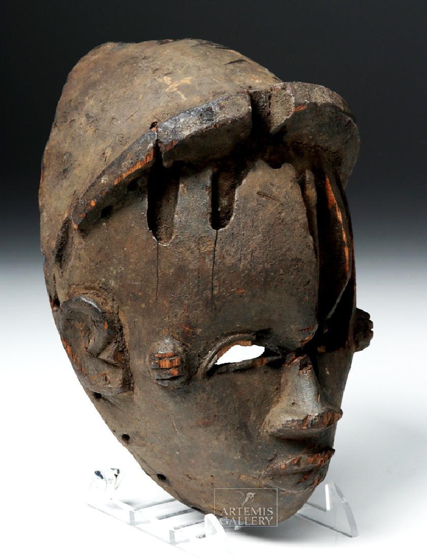 Early 20th C. Nigeria Ogoni Wood Face Mask - 3