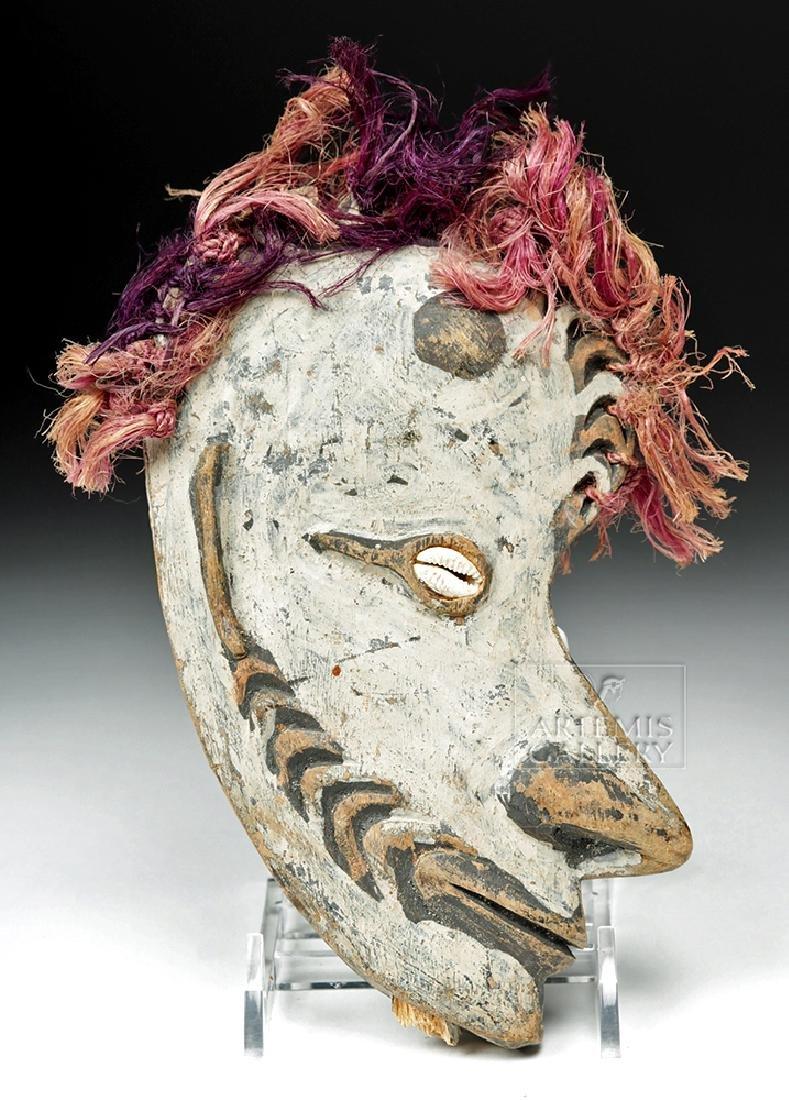 20th C. Papua New Guinea Wood Ancestor Mask