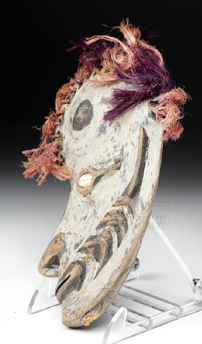 20th C. Papua New Guinea Wood Ancestor Mask - 4