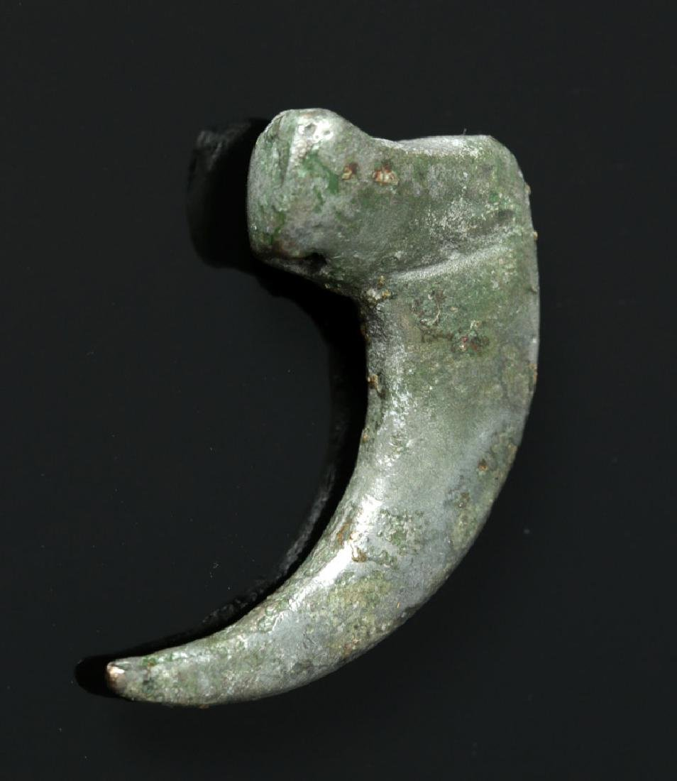 Rare Proto-Viking White Bronze Claw Pendant