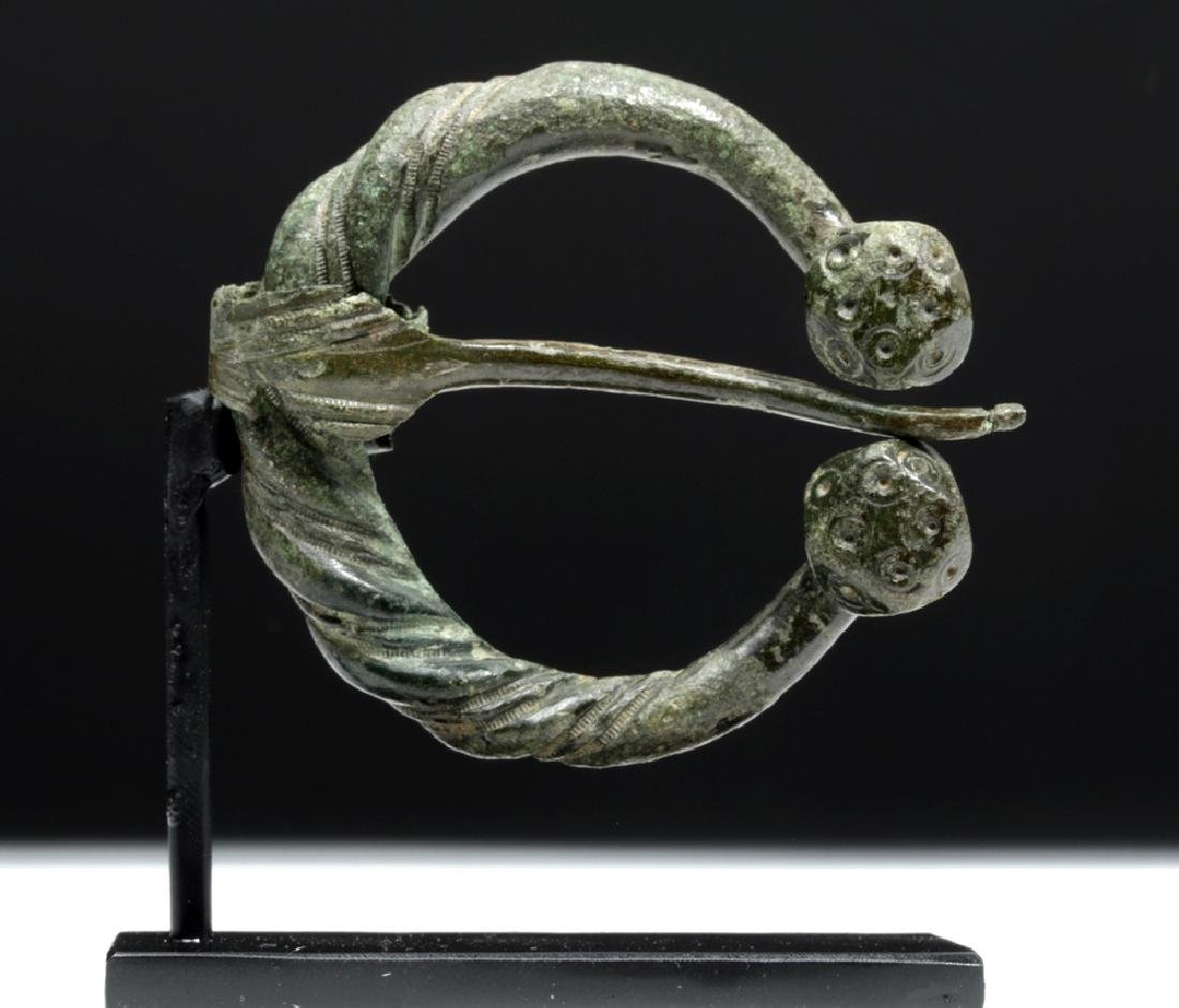 Authentic Viking Bronze Penannular Brooch