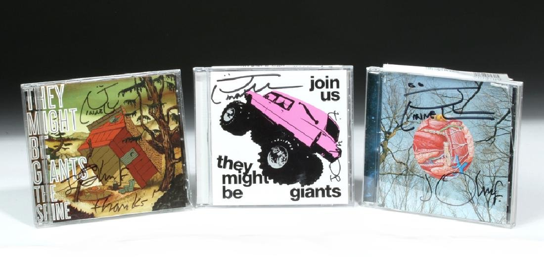3 Autographed CDs 'They Might Be Giants' - Orig. Cases