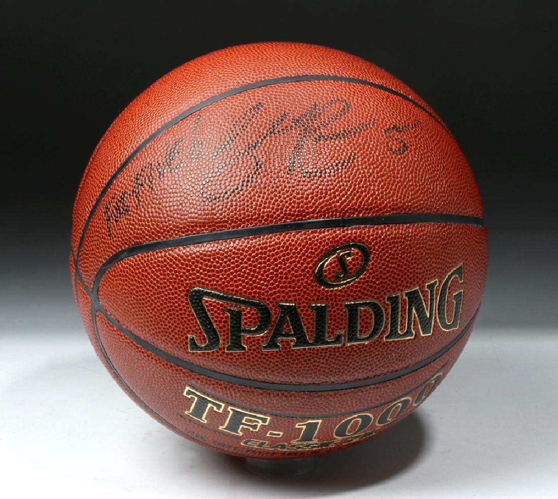 Jalen Rose Signed Spaulding TF-1000 Basketball