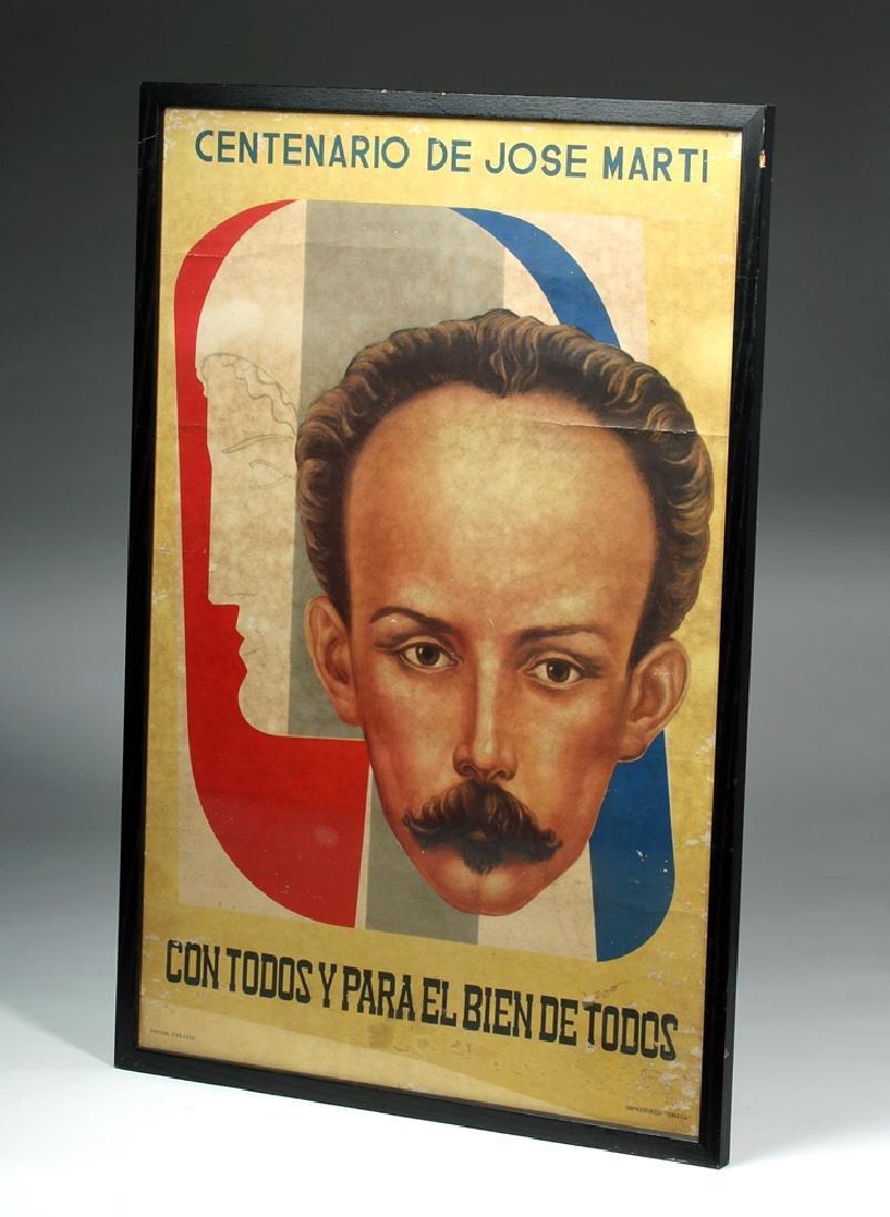 Rare 20th C. Jose Marti Propaganda Poster