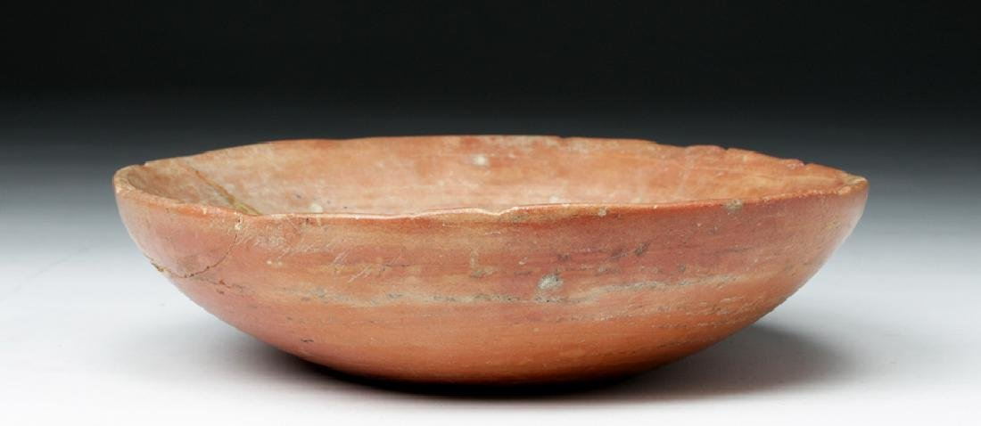 Rare Egyptian Old Kingdom Pink Marble Bowl
