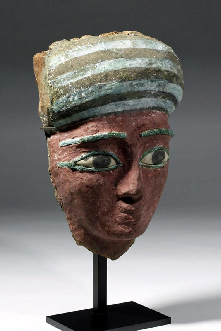 Superb Egyptian Sarcophagus Mask w/ Radiocarbon Date - 4