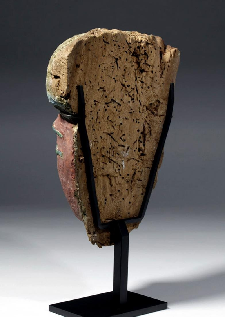Superb Egyptian Sarcophagus Mask w/ Radiocarbon Date - 5