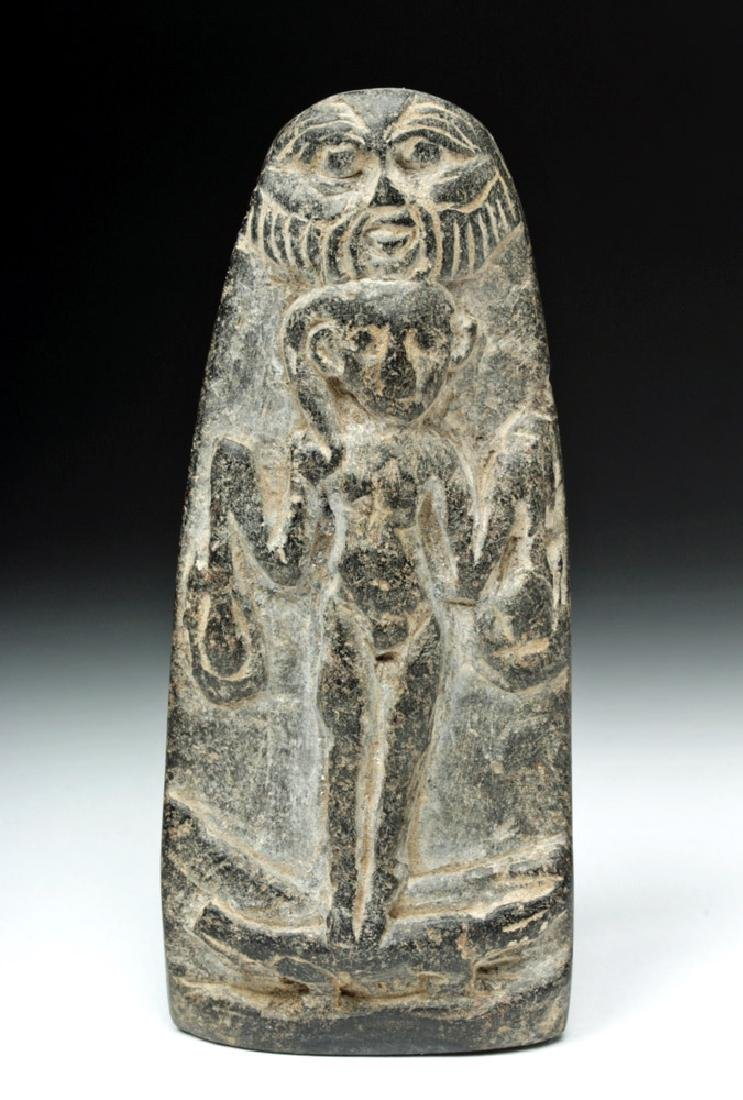 Romano-Egyptian Stone Votive  - Bes & Harpocrates