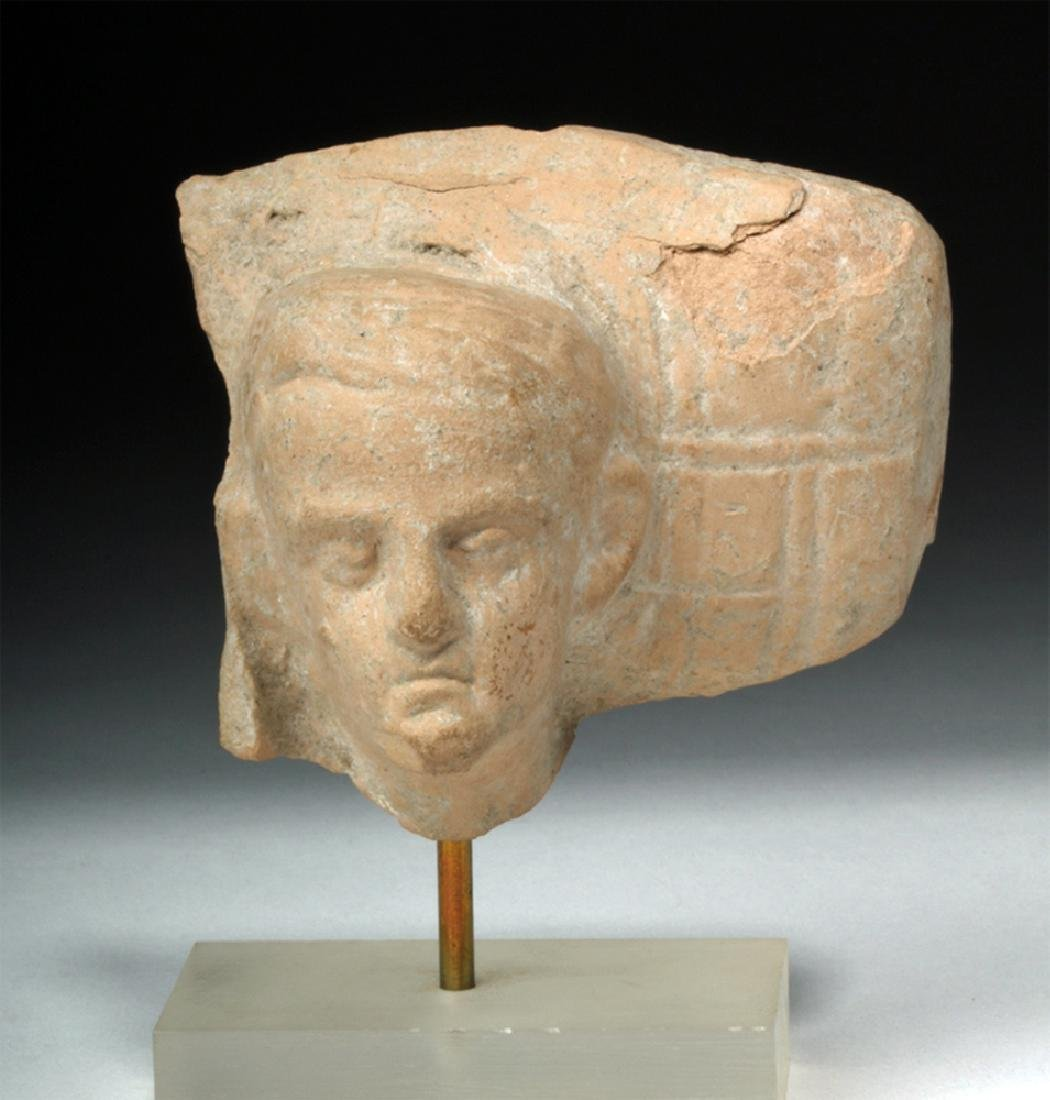 Archaic Greek Pottery Section w/ Face