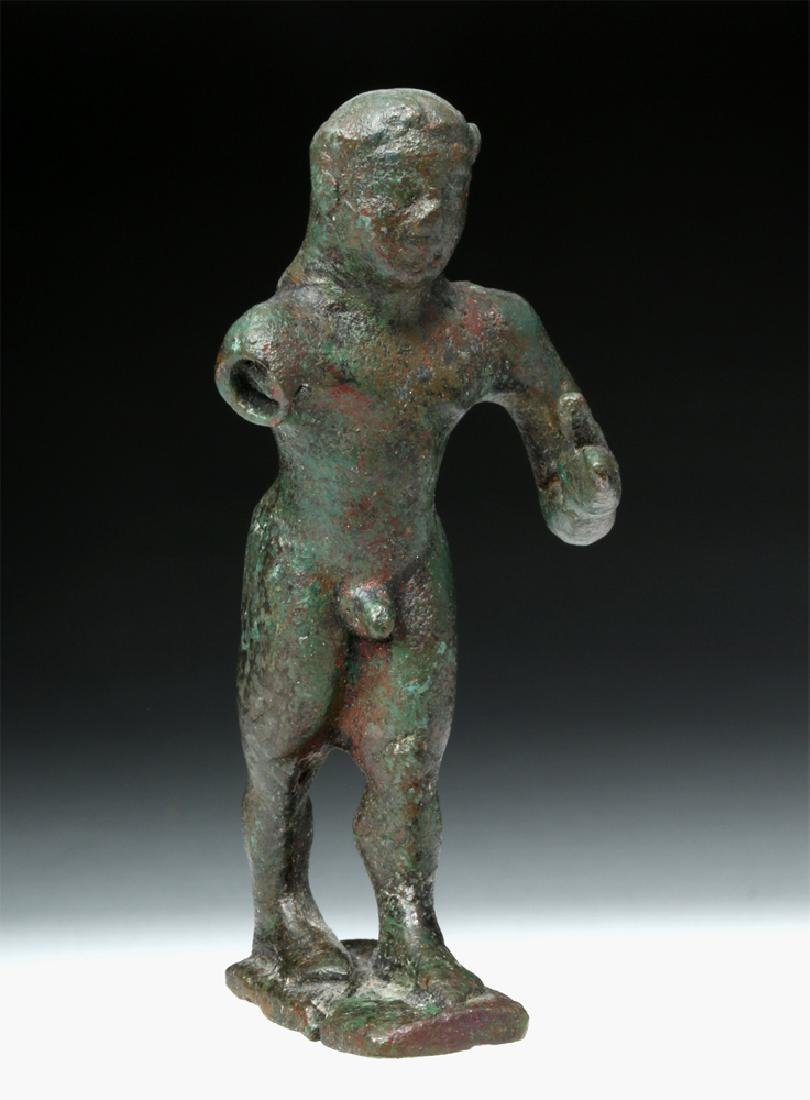 Archaic Greek Bronze Figure of a Nude Kouros - 2