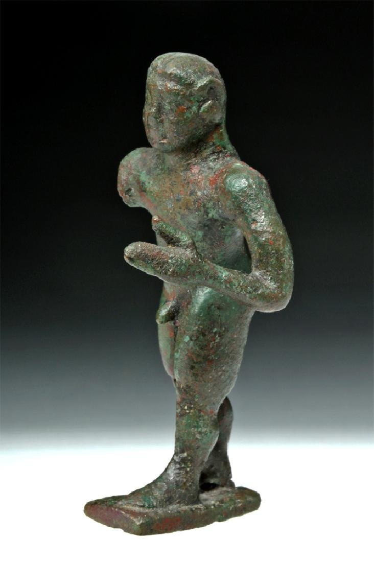Archaic Greek Bronze Figure of a Nude Kouros - 3