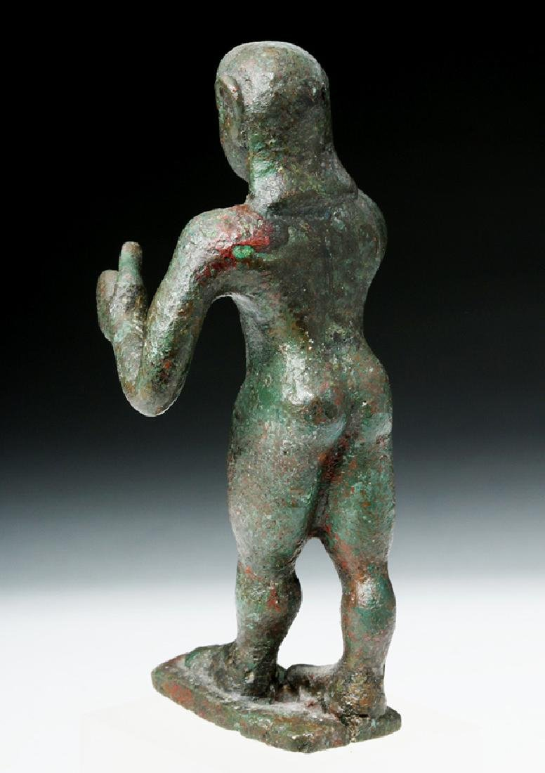 Archaic Greek Bronze Figure of a Nude Kouros - 4