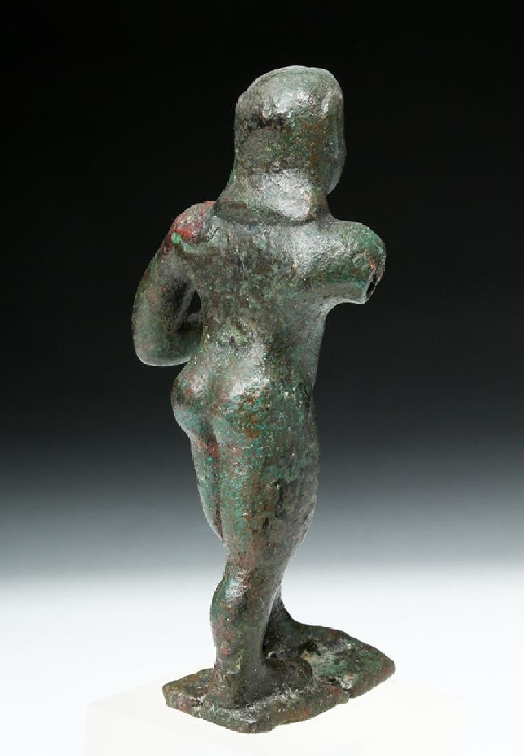 Archaic Greek Bronze Figure of a Nude Kouros - 5