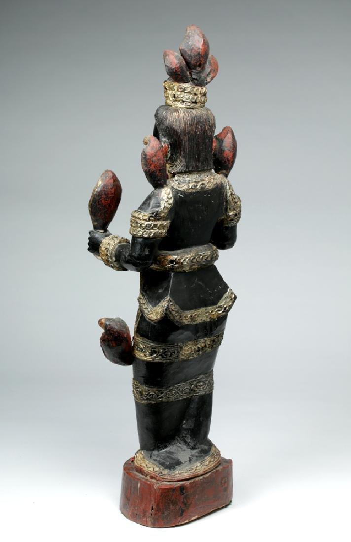 Fine 19th C. Burmese Carved Wood Nat - Shwe Nabay - 4