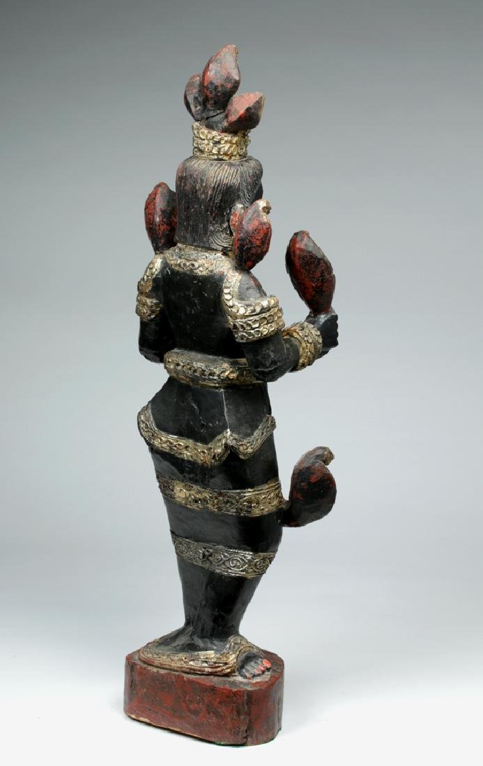 Fine 19th C. Burmese Carved Wood Nat - Shwe Nabay - 5