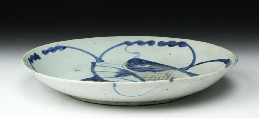 Chinese Qing Dynasty Porcelain Fish Plate - 5