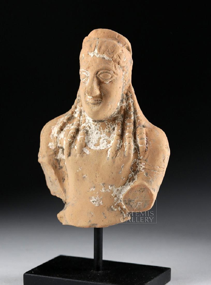 Archaic Greek Terracotta Bust of a Goddess