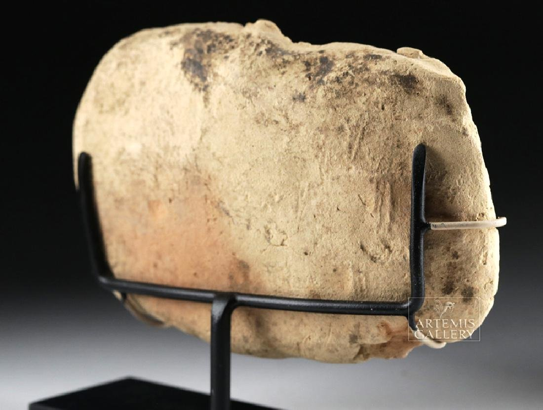 Sumerian Terracotta Plaque - Man on Bull - 5