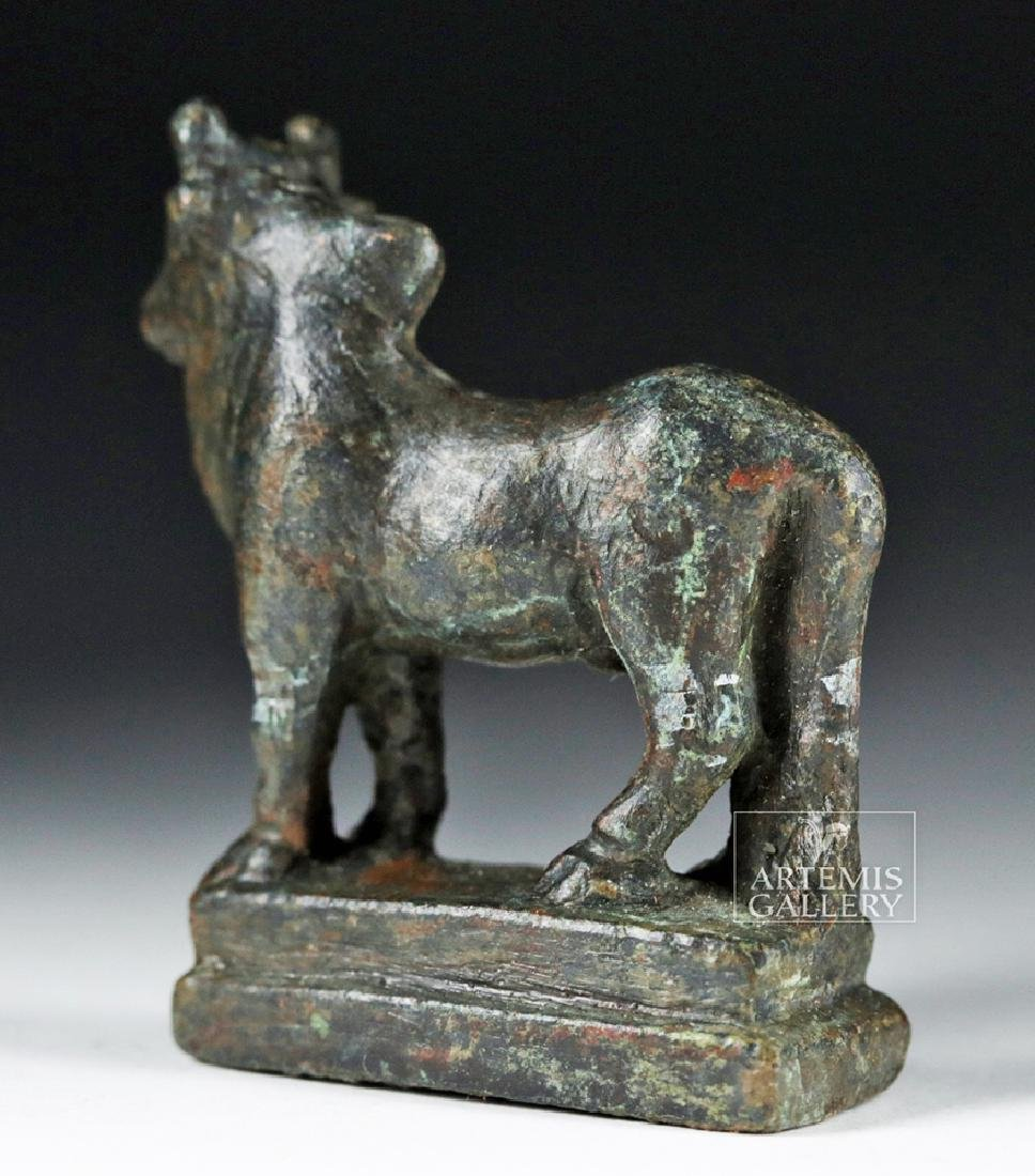 Roman Silvered Bronze Statue - Humped Bull - 5