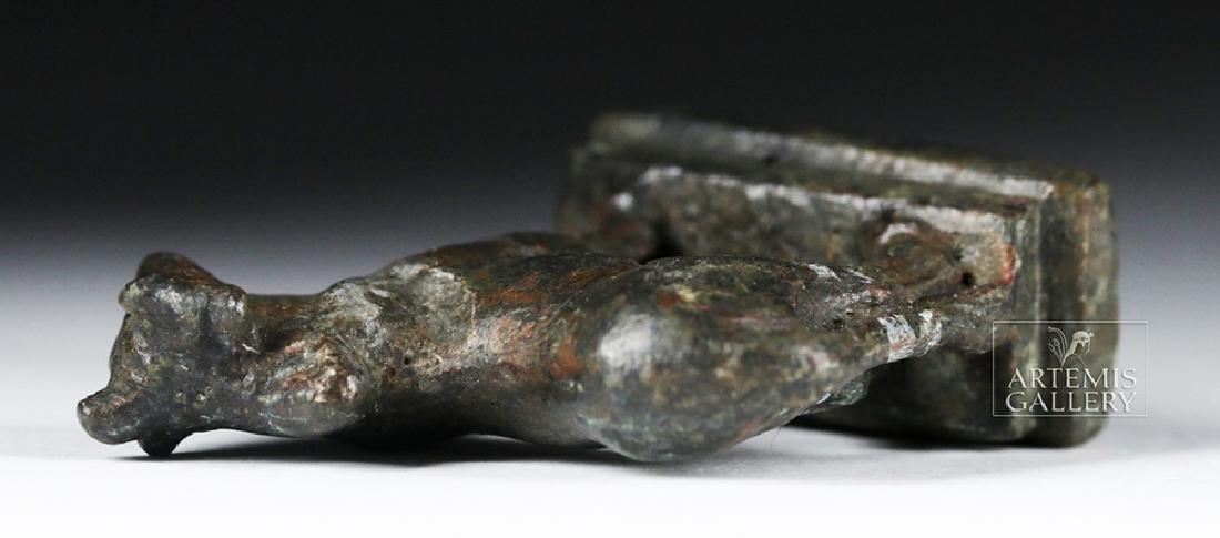 Roman Silvered Bronze Statue - Humped Bull - 8