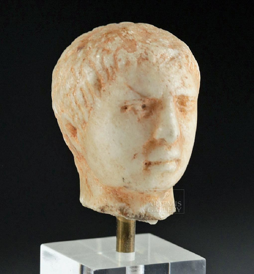Roman Marble Head of a Young Emperor