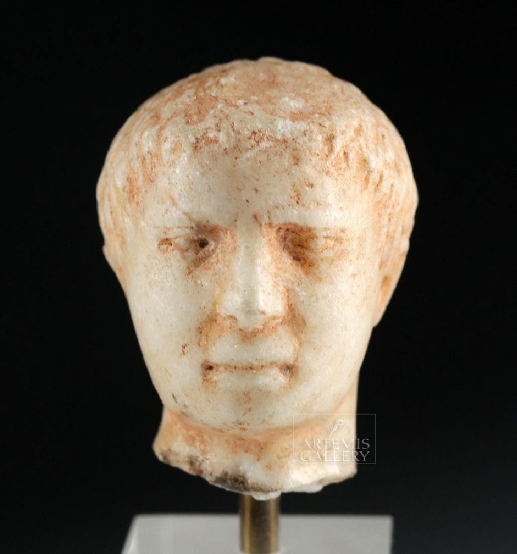 Roman Marble Head of a Young Emperor - 2