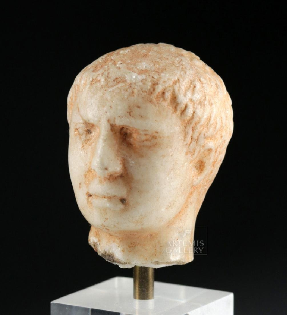 Roman Marble Head of a Young Emperor - 5