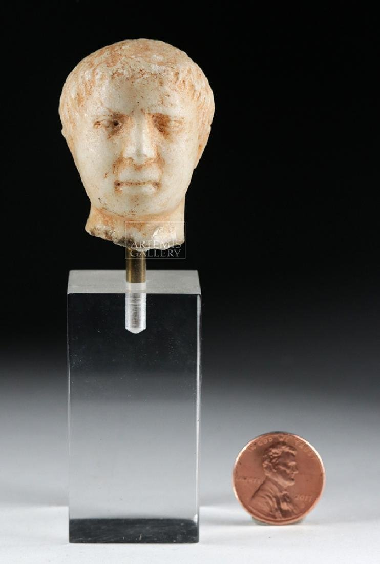 Roman Marble Head of a Young Emperor - 6