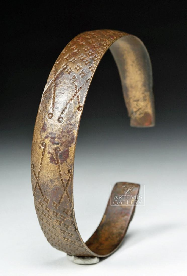 Very Fine Decorated Viking White Bronze Bracelet
