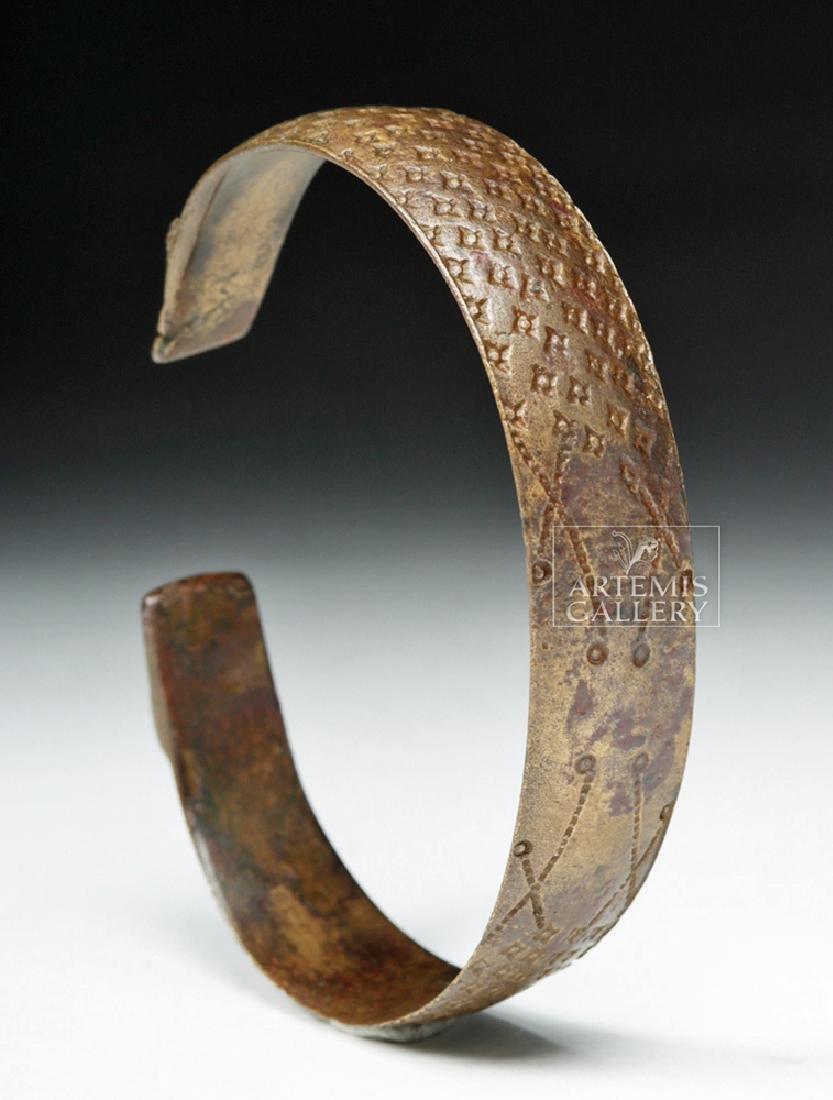 Very Fine Decorated Viking White Bronze Bracelet - 3