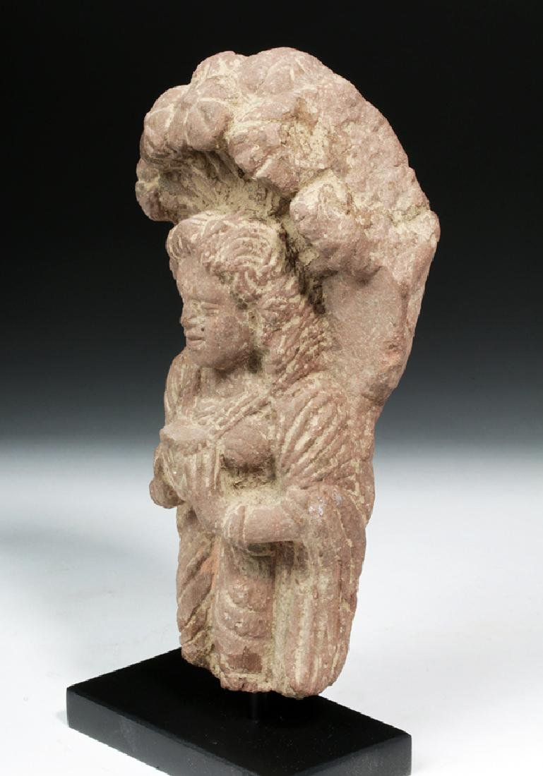 4th C. Indian Gupta Sandstone - Standing Yaksha - 2