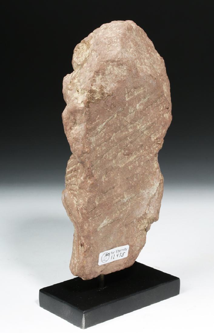 4th C. Indian Gupta Sandstone - Standing Yaksha - 3
