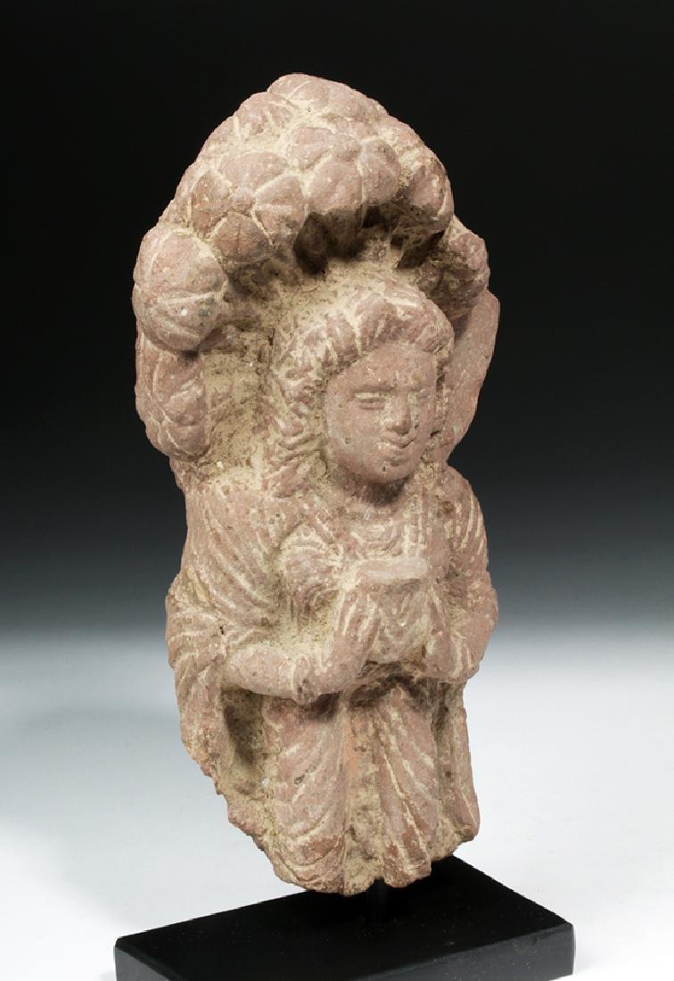 4th C. Indian Gupta Sandstone - Standing Yaksha - 5