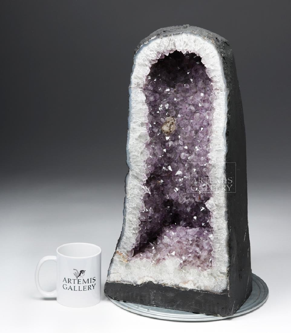 Large Brazilian Amethyst Cathedral Geode - 6