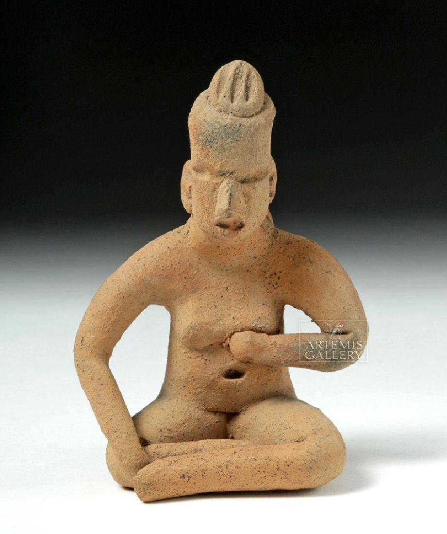 Olmec Pottery Seated Figure - Anthropomorphic