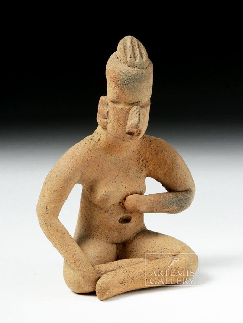 Olmec Pottery Seated Figure - Anthropomorphic - 5