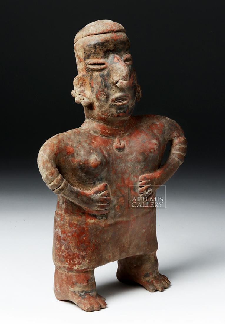 Nayarit Bichrome Pottery Standling Female - 5