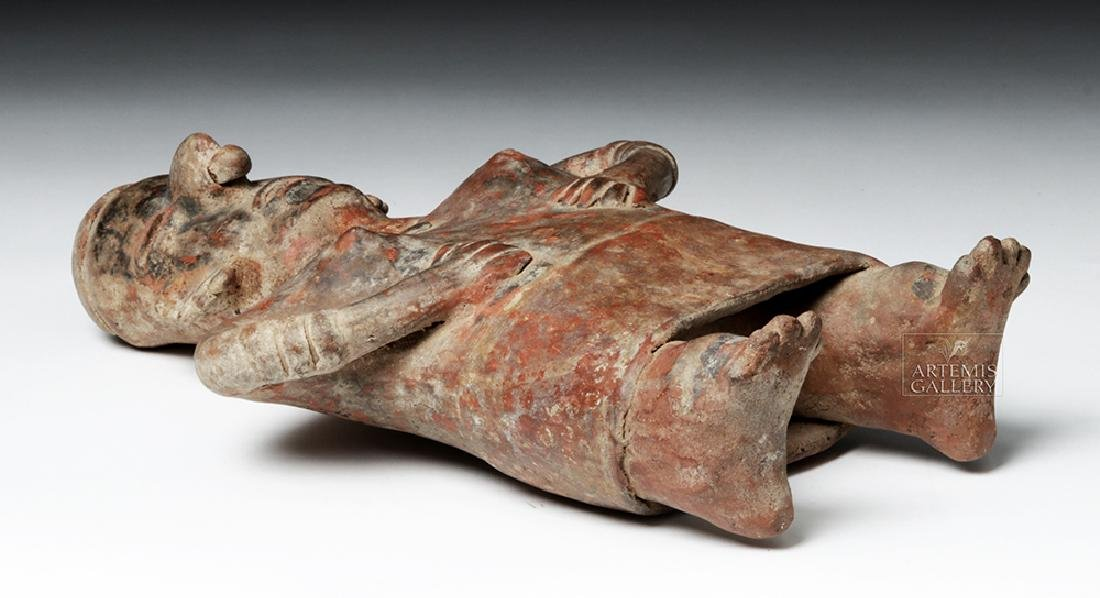 Nayarit Bichrome Pottery Standling Female - 6