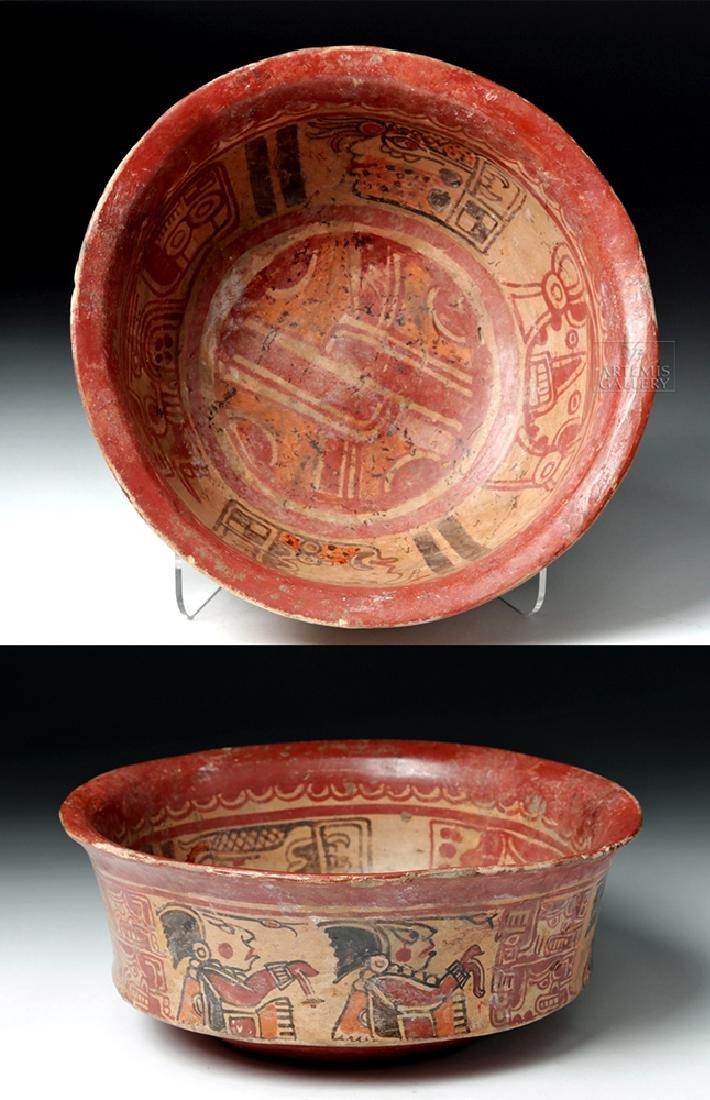Mayan Polychrome Copador Bowl