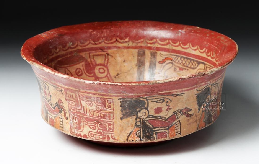 Mayan Polychrome Copador Bowl - 2