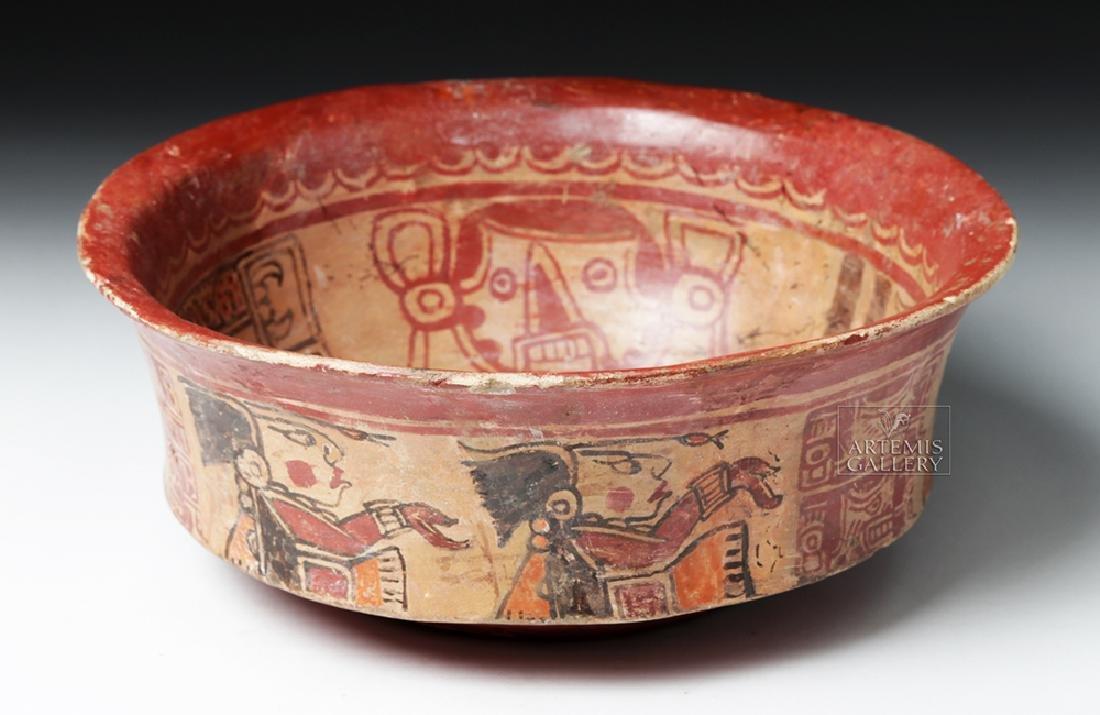 Mayan Polychrome Copador Bowl - 3