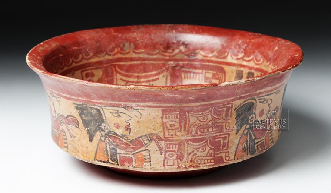 Mayan Polychrome Copador Bowl - 4