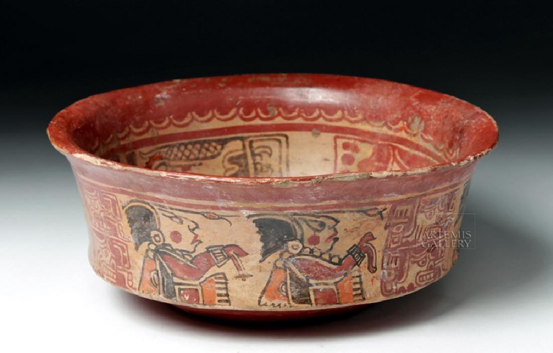 Mayan Polychrome Copador Bowl - 5