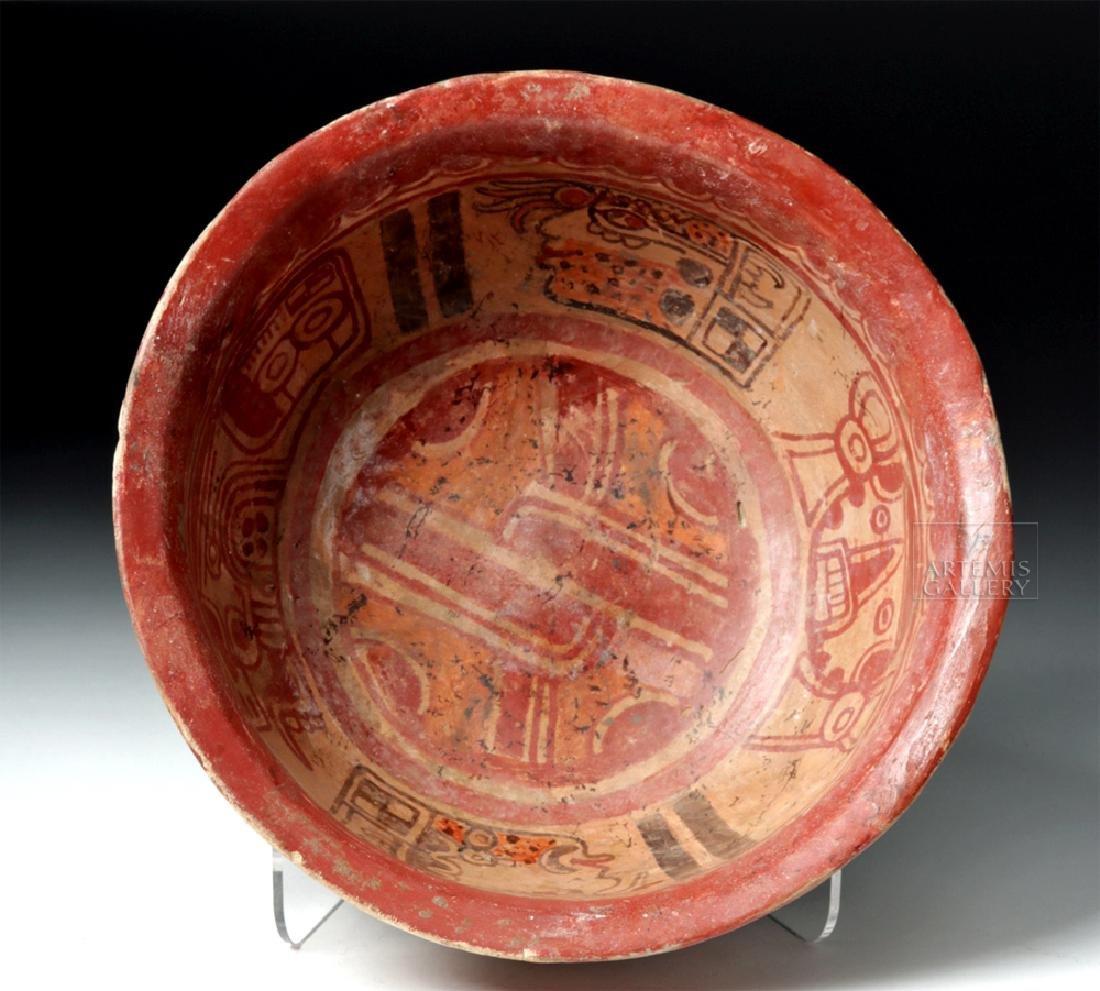 Mayan Polychrome Copador Bowl - 7