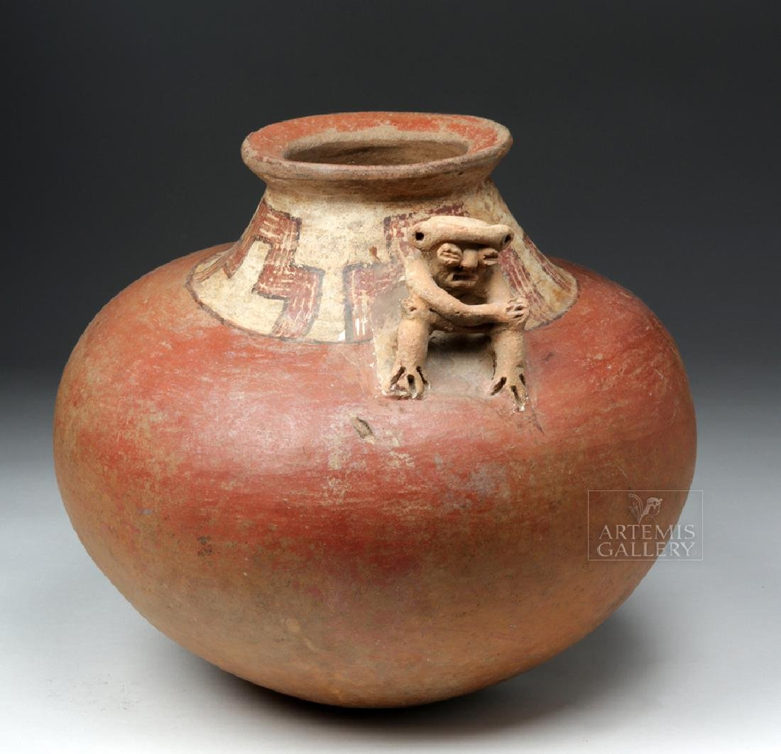 Large Costa Rican Pottery Effigy Vessel